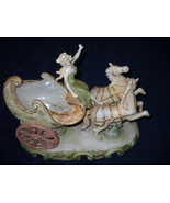 HAND PAINTED Andrea by Sadek LADY IN HORSE CARRIAGE Figurine-Occuupied J... - $49.99
