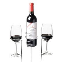 Bottle Holder, Chrome Drinking Wine Glass And Beer Bottle Holder, Set Of 3 - $22.19
