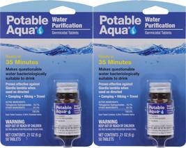 Potable Aqua Camping Water Purification Germicidal 100 Total Tablets - $20.99
