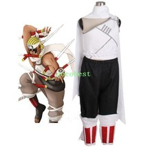 Naruto Killer Bee  KillerB Cosplay Costume Waistcoat Trousers  Wrist Ban... - $55.79