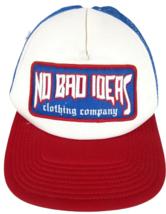 NO BAD IDEAS clothing co ball cap trucker hat snapback red white blue hi... - $29.69