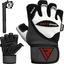 RDX Weight Lifting Gloves Gym Crossfit Workout Powerlifting (Large|White) - $43.26