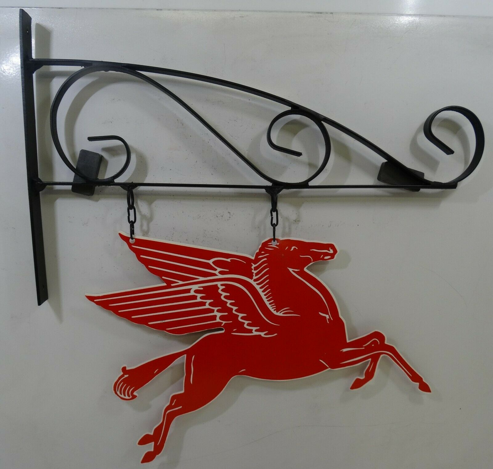 "Mobil Pegasus on Hanger 15"" Metal Sign"