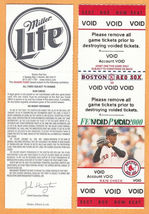 2000 Boston Red Sox Voided Full Ticket With Pedro Martinez Photo - $1.50