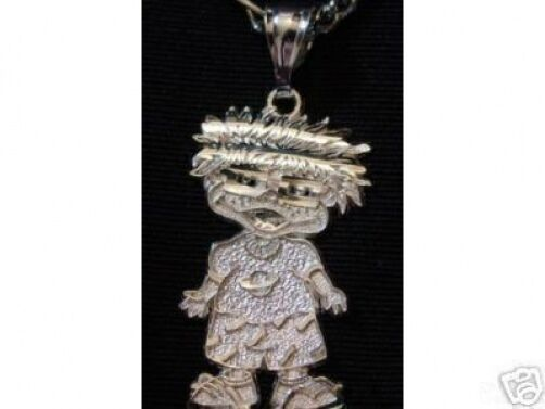 LOOK Sterling Silver 925 Rugrats Chuckie Pendant Charm Jewelry