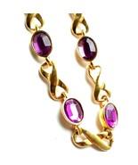 R21 AVON infinity purple gold bracelet - $24.45