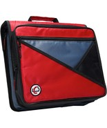 Case-it Universal 2-Inch 3-Ring Zipper Binder, Holds 13 Inch Laptop, Red... - $20.79