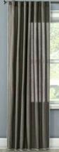 "Threshold Gray Stitched Edge Window Panel  84"" L new - $15.20"