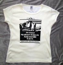 Monterey Historic Races Laguna Seca Raceway 1980 SCCA Womens T Shirt L V... - $40.19