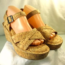 AVA Shoe Real Womens Size KORK Cork EASE Wedge Platform 140 Sandals 10 Retail 8R55tnqa