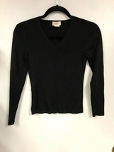 346 Brooks Brothers SMALL Silk Top knit blouse V Neck - $29.69