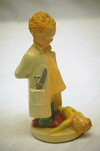 Old Vintage 1942 Hummel Dubler Ars Sacra Chalkware Art Doll Doctor Girl Figurine - $39.59