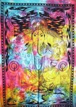 Tie Dye God Ganesha Poster Wall hanging Boho Poster Dorm Decor Bohemian ... - $9.79