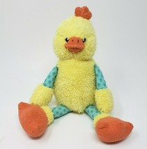 "13"" ANIMAL ADVENTURE 2010 YELLOW & TEAL DUCK CHICK STUFFED ANIMAL PLUSH TOY - $36.47"
