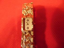 Ladies, Wittnauer, Gold Plated, Diamond Dial, Quartz, Bracelet Watch.  - $29.99
