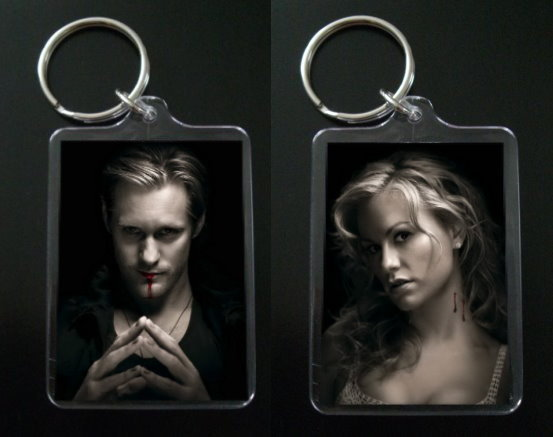TRUE BLOOD keychain ERIC NORTHMAN & SOOKIE STACKHOUSE #1