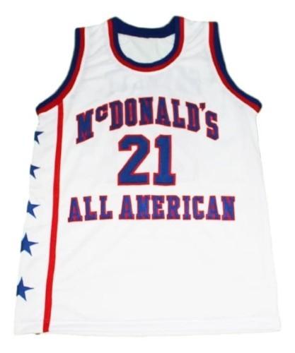 Kevin garnett  21 mcdonalds all american basketball jersey white   1
