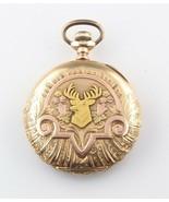Elgin 14k Multicolor Oro 17-Jewel Antiguo Reloj de Bolsillo Tamaño 16s C... - $3,712.53