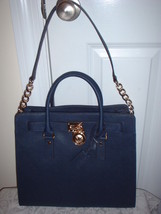 NWT Michael Kors Hamilton  Leather NS Large Nor... - $257.39