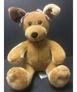 Build A Bear Workshop Brown Sitting Puppy Girl Dog Plush With Pink Ear B... - $20.62