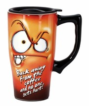 Spoontiques Back Away from Coffee Travel Mug, Orange - $22.35