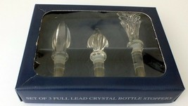 Set of 3 TOWLE Crystal Bottle Stoppers Three Distinct Designs Austria Ne... - $20.33