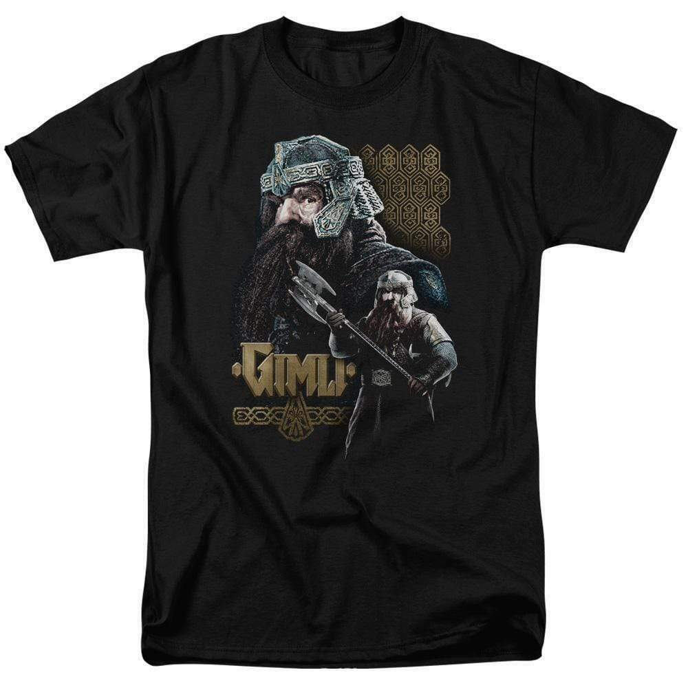 The Lord of the Rings trilogy Gimli Dwarf Warrior graphic t-shirt LOR1009