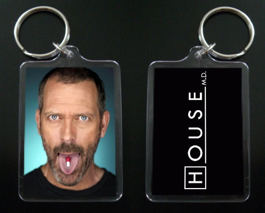 Primary image for  HOUSE MD keychain / keyring HUGH LAURIE Dr Greg House #2