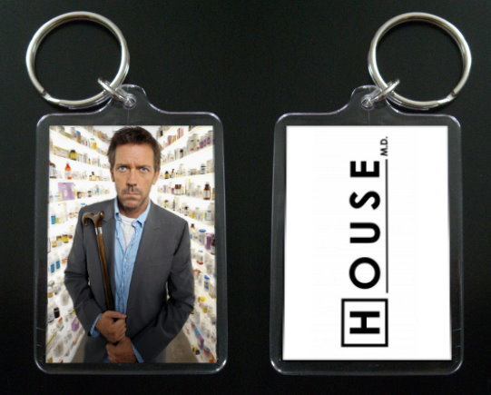HOUSE MD keychain / keyring HUGH LAURIE Dr Greg House #3