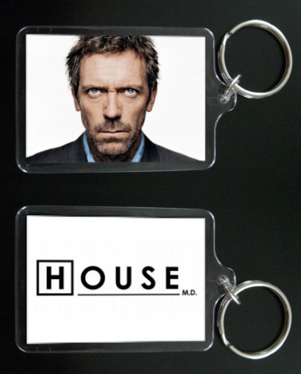 HOUSE MD keychain / keyring HUGH LAURIE Dr Greg House #4
