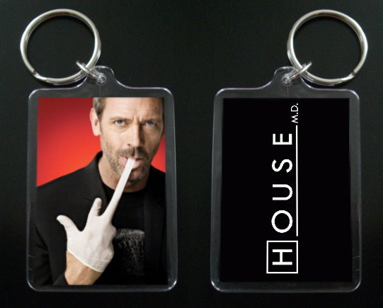 HOUSE MD keychain / keyring HUGH LAURIE Dr Greg House #6