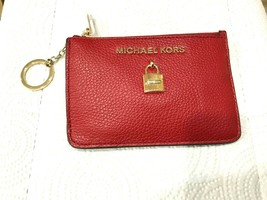 Michael Kors Adele Small Top Zip Coin Pouch Card Holder ID Key Ring Msrp... - $24.74