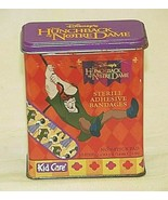 Disney Hunchback Notre Dame Bandage Metal Tin Box Kid Care Band Aid Hing... - $14.84