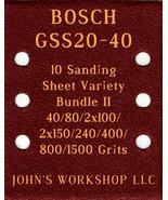 BOSCH GSS20-40 - 40/80/100/150/240/400/800/1500 - 10pc Variety Bundle II - $12.46