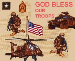GOD BLESS OUR TROOPS  Cross Stitch Pattern***L@@K*** - $4.95