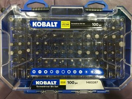 Kobalt  - 101464 - 100-Piece 1-in Steel Hex Shank Screwdriver Bit Set - $29.65