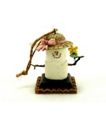 S'more Marshmallow Hanging Ornament, Snowlady With Hat & Flower, Cannon ... - $14.65