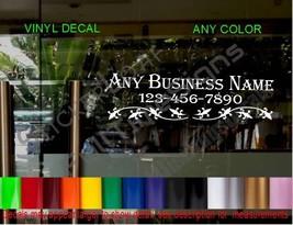STORE NAME window Door Decal Sign CUSTOM restaurant cafe deli grocery florist - $17.39+