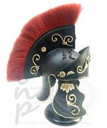 AMedieval & Gothic Helmet Red Plum Roman Knight King Trojan Reenactment ... - $85.00