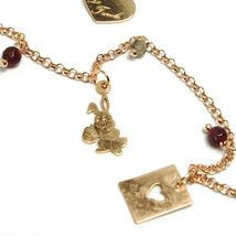 Necklace 70 cm, Silver 925 Agate Red, Cards Rabbit Watch Mug, le Favole image 3
