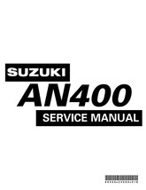 Suzuki AN400 K3 Service Manual Reprinted Comb Bound 2002 Edition - $34.45