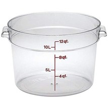 Cambro RFSCW12135 Round Storage Container, 12 quart, Clear - €29,66 EUR