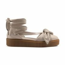Puma Fenty Bow Creeper Sandal Womens 6 Ankle Laced Rihanna Gum Light Pink New - $49.95