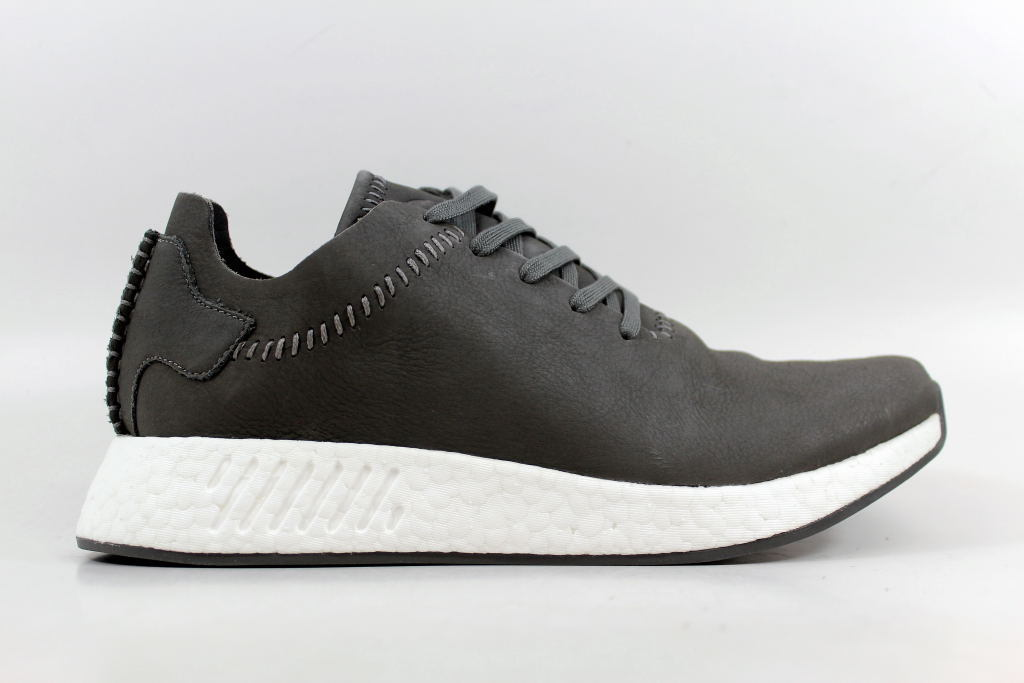 new product 4d3bf d882e ... Adidas WH NMD R2 AshAsh-Off White Wings And Horns Leather BB3117 Mens  ...