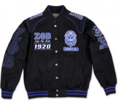 Zeta Phi Beta - Twill Racing Jacket (Size Medium) - £104.02 GBP