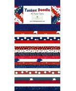 Jelly Roll-Yankee Doodle-40 Strips-Wilmington Prints-Duplicates-Red-Whit... - $39.95