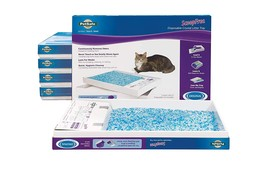 6 Cat ScoopFree Self Cleaning Litter Boxes and ScoopFree Slide Blue Crys... - $121.65