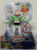 "Disney Pixar Toy Story 4 True Talkers Talking BUZZ LIGHTYEAR Figure 7"" BRAND NEW image 5"