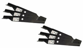 6 Heavy Duty High Lift Blades Replaces 187254, 187256, 532187254, 532187256 - $59.35