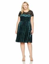 Sangria Women'S Plus Size Velvet And Lace Dress - $40.19+